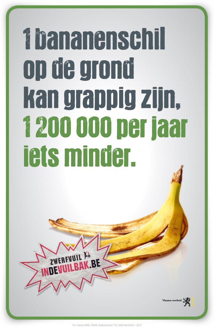 zwerfvuil 2013 banaan