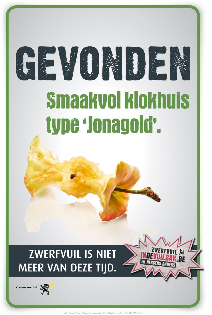 Zwerfvuil klokhuis