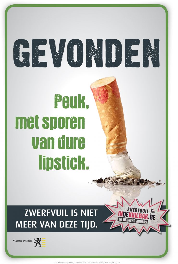 Zwerfvuil peuk